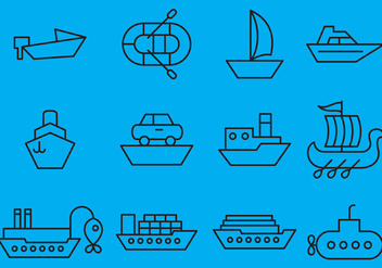 Vector Ships Icons - Free vector #353125