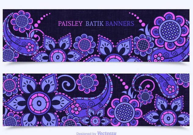 Free Paisley Batik Vector Banners - Kostenloses vector #353345