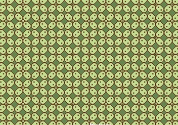 Javanese Green Batik Background Vector - Kostenloses vector #353375