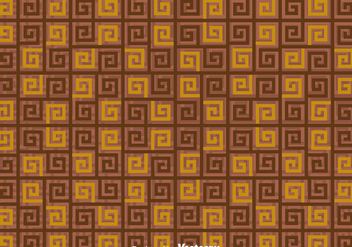 Brown Greek Key pattern - vector gratuit #353405