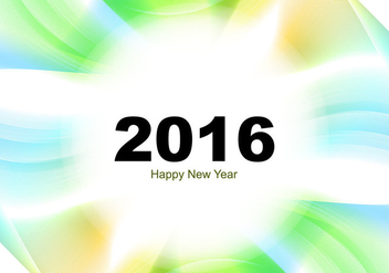 Happy New Year 2016 greeting card - Free vector #353825