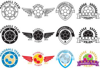 Hand Ball Logo Vectors - бесплатный vector #353865