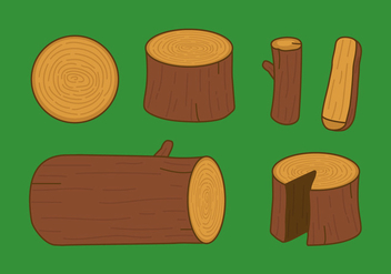 Vector Wood Logs - vector gratuit #353965
