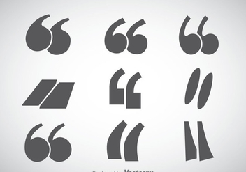 Quotation Mark Sets Vector - Free vector #354015