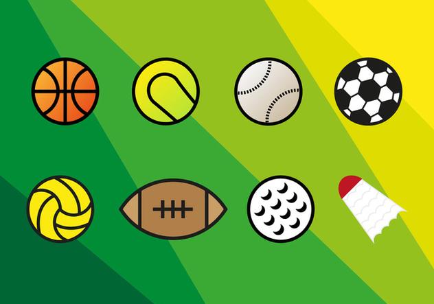 Sports Vector Balls - vector gratuit #354145