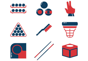 Pool Sticks and Billiards Vector Icons - Free vector #354205