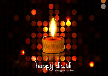 Illuminated Background With Diwali Oil Lamp - vector gratuit #354425
