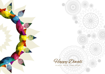 Rangoli With Bright Colorful Diyas - Free vector #354635