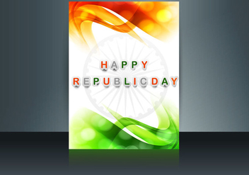 Happy Republic Day Banner - vector gratuit #354685