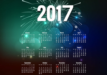 Year 2017 Calendar - Free vector #354705