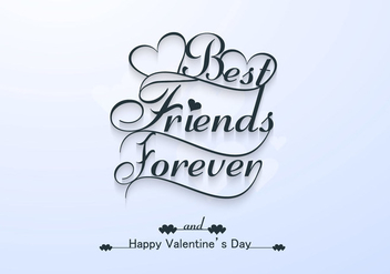 Happy Valentine's Day Greeting Card - vector #354825 gratis