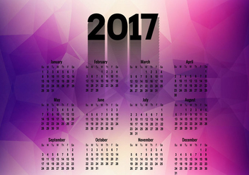 Polygonal Calendar Of Year 2017 - Free vector #355055