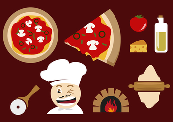 Pizza Oven Illustrations Vector - Free vector #355145