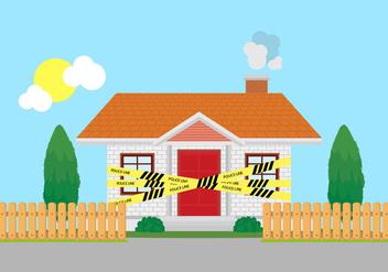 Home Crime Scene Police Line Vector - Kostenloses vector #355195