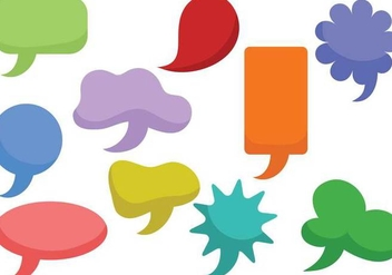 Free Speech Bubbles Vectors - vector #355245 gratis