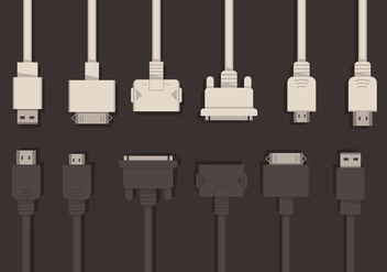 HDMI and USB Vector Set - vector gratuit #355675