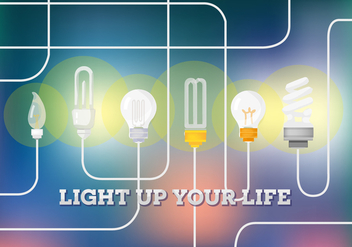 Free Light Bulb Vector Background - vector gratuit(e) #355785