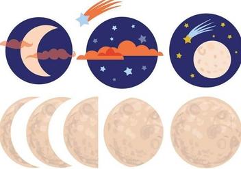 Free Moon Vectors - Free vector #355905