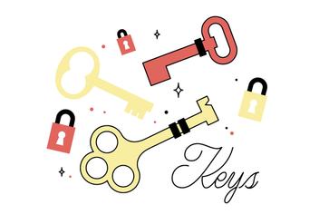 Free Keys Vector - vector #355915 gratis