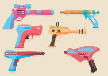 Laser Gun Vectors - Free vector #355995