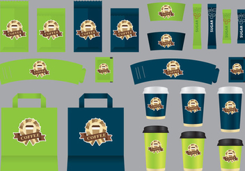 Organic Coffee Shop Template Vectors - vector #356085 gratis