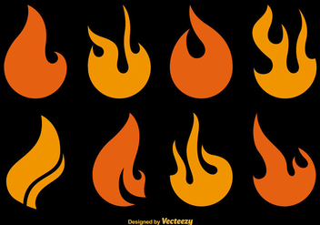 Flat Fire Vector Icons - Free vector #356175