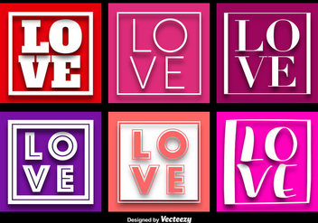 LOVE Word Background Vectors - vector #356385 gratis
