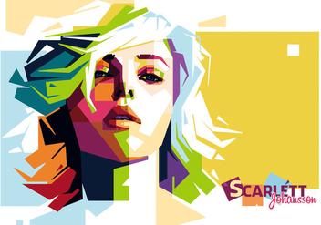 Scarlett Johansson Vector Portrait - Kostenloses vector #356495
