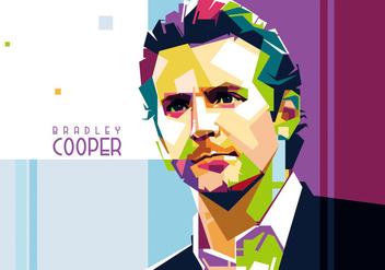 Vector Bradley Cooper Portrait - бесплатный vector #356565