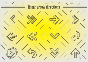 Free Linear Arrows Vector - Kostenloses vector #356575