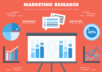 Free Flat Marketing Research Vector - Kostenloses vector #356605