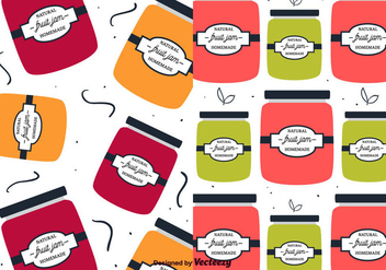 Fruit Jam Pattern Vector - Free vector #356615