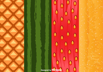Fruit Peel Pattern Vector - vector gratuit #356625