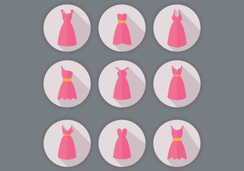 Bridesmaid Dress Vectors - бесплатный vector #356635