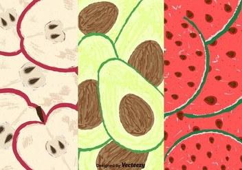 Free Fruits Slice Pattern - vector gratuit #356655