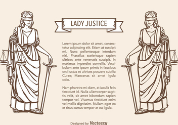 Free Lady Justice Vector - Free vector #356715
