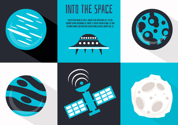 Free Flat Space Vector Illustration - Free vector #356825