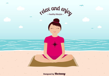 Relax And Enjoy Background Vector - Free vector #356875