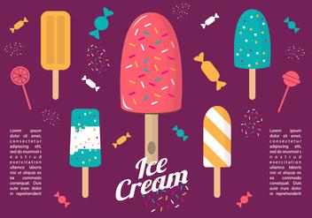 Free Colorful Flat Ice Cream Vector - Kostenloses vector #356945