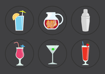 Cocktail Vector Icons - Free vector #356995