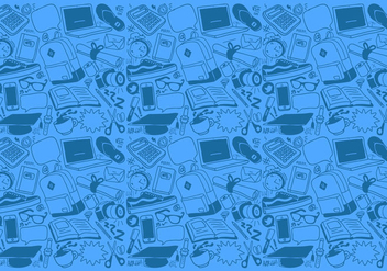 Vector School Stuff Pattern - vector #357005 gratis