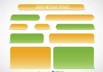 Imessage Blank Template Vector - Free vector #357125