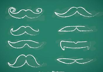 Movember Mustache Chalk Draw Vectors - Free vector #357165