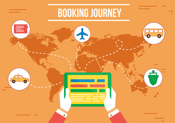 Free Booking Journey Vector - vector gratuit #357245