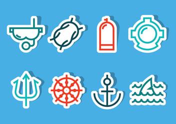 Ocean Icon Vectors - Kostenloses vector #357285