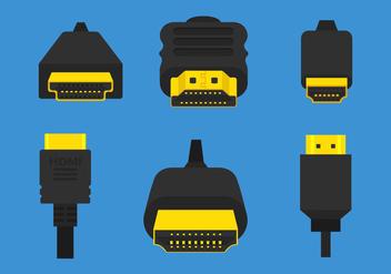 Hdmi Vector Cables - vector #357365 gratis