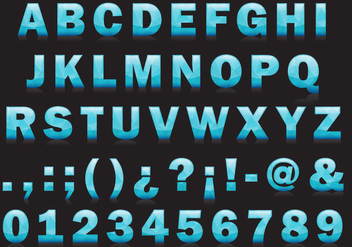 Ice Type Vector Font - Free vector #357575