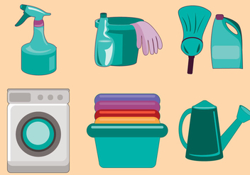 Spring Cleaning Vector - Free vector #357735