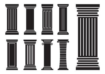 Roman Pillar Vectors - vector gratuit(e) #357955