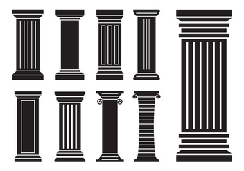 Roman Pillar Vectors - Free vector #357955